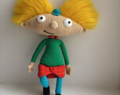 Arnold By Hey Arnold, PDF CROCHET PATTERN, Instant Download, Amigurumi