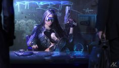 Shadowrun Anarchy – Character Portrait Showcase – Digital ArtLords