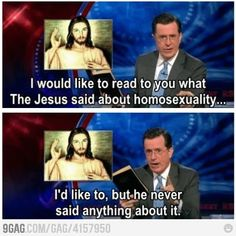 What did Jesus said about gay marriage