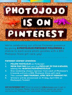 Psst, have you seen this yet? Photojojo's officially launching on Pinterest today, & we're celebrating with some sweet prizes! Check out the deets above.