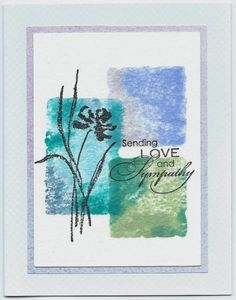 color blocked sympathy by happy-stamper - Cards and Paper Crafts at Splitcoaststampers