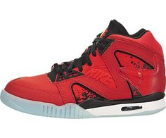 Nike Mens Air Tech Challenge Hybrid Chilling RedBlackWhite Leather Running Cross Trainers Size 13 >>> Details can be found by clicking on the image.