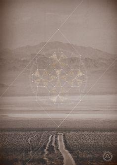 More surrealistic geometry hovering strategically over a desolate landscape... still love it!