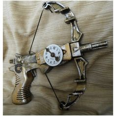 Time's Arrow, Clockwork Miniature Crossbow, WORKING steam punk dart... ❤ liked on Polyvore featuring steampunk