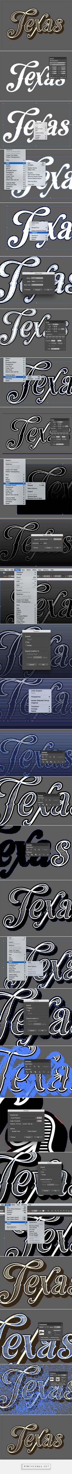 How To Create a Vintage Text Effect in Illustrator - created via http://pinthemall.net