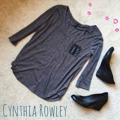 2X HOST PICK  || Cynthia Rowley Pocket Top Lightweight and super soft, this Cynthia Rowley top is adorable!   This shirt is in perfect condition and features a small chest pocket too!   ✨85% Polyester||15% Linen✨   NO TRADES!   UPDATED 4/12/16: Host Pick for the Best in Tops party!!!!! Thank you so much @jessil6! SECOND UPDATE 4/17/16: Eeee Host Pick for Style Crush party! Thank you @chauderr!  Cynthia Rowley Tops Blouses