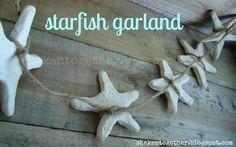 Clay starfish garland.