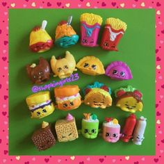 All the International Foods! Plastic Canvas Tissue Boxes, Plastic Canvas Patterns, Shopkins Limited Edition, Handmade Beaded Jewelry, Handmade Necklaces, Shopkins Season 1, Shopkins World, Shoppies Dolls, Monster High Custom