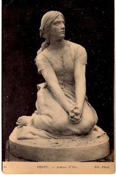 Vintage French postcard. Statue of Jeanne d'Arc. 1910s or 1920s. #artwork #postcard #Joanofarc