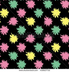 Seamless abstract floral pattern. Flowers texture. - stock vector