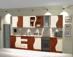 Fala - 260 cm-es blokk konyha.  Ez a bohém konyha boci foltjaival biztosan minden reggel mosolyt fog csalni a családtagok arcára. www.knapp.hu