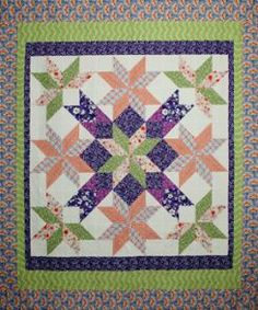 Stella's Surprise queen size from Calico Carriage Quilts - their claim to fame is no Y seams or diamonds. Has several interesting designs .....