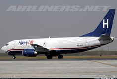 Boeing 737-3G7(SF), HeavyLift International Airlines, A6-HLG, cn 24710/1825, first flight 16.2.1990 (America West Airlines), HeavyLift delivered 22.6.2009. Foto: Islamabad, Pakistan, 10.3.2010.