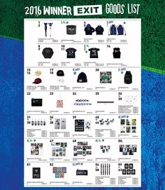 2016 WINNER EXIT TOUR GOODS LIST를 공개합니다! 2016.03.12.(SAT) 2016.03.13.(SUN) 양일간 열리는 WINNER의 EXIT TOUR의 서울 콘서트 굿즈 리스트를 공개합니다. http://ift.tt/1UUp4W8 MD(GOODS) 부스 운영시간 공지 MD BOOTH OPERATING HOURS NOTICE 2016.03.12.(SAT) 공연시작: 18:00 MD부스 운영시간: 11:00 17:30 / 공연 후 1시간 2016.03.13.(SUN) 공연시작: 16:00 MD부스 운영시간: 10:00 15:30 / 공연 후 1시간 EMS 부스 운영. 지난 BIGBANG 콘서트와 마찬가지로 EMS 부스를 운영합니다. 해외 배송을 원하시는 분들은 EMS를 이용하세요. MD 부스와 같은 시간동안 운영합니다. EMS BOOTH OPERATION NOTICE The Post Office Service booth will be operated…