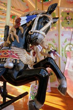 Black Carousel Horse by DaniConnor1995, via Flickr