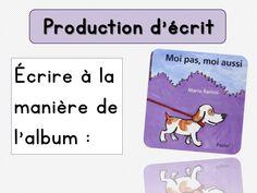 Ecrire à la manière de l'album Moi pas, moi aussi Mario, Expressions, Comics, Words, Albums, Cycle 2, Halloween, Teacher Resources, Learn French
