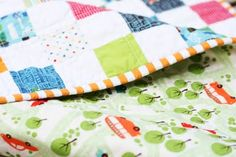 Busy Boy Quilt Binding #Quilts #Baby #Boy
