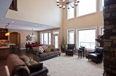 Open Floor plan Custom Builders, Open Floor, Custom Homes, Living Spaces, Conference Room, Floor Plans, Flooring, How To Plan, Table