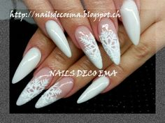 flocons de neige by nailsdecoema from nail art gallery - Christmas Nail Art Gallery