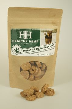 Well-Pet Dispensary - Healthy Hemp Biscuits with Fish Oil-Green Lipped Mussels