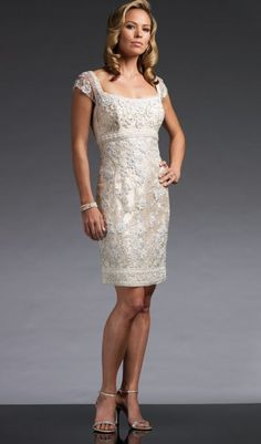 Mother of the Groom Dress (In Cocoa & Champagne) so pretty I love this!!!!!!!!!!!!