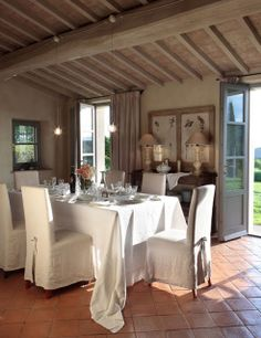 18a08de6fe929 lime washed beams and antique italian tile ceiling Campagne Chic, Maison De  Campagne, Table