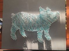 Pig string art board by RusticSawdustt on Etsy