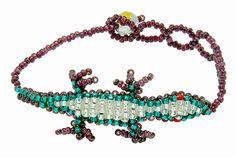 Lizard  Beaded Bracelet - Eco-friendly, Handmade in Guatemala.