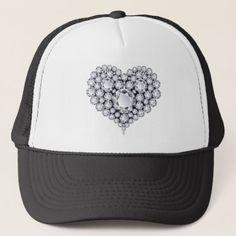 ed8dd2f20cc Diamonds on Black Heart Gems Trucker Hat  valentine  valentinesday   bemyvalentine Black Heart