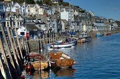 Boats at West Looe - Looe in  Cornwall