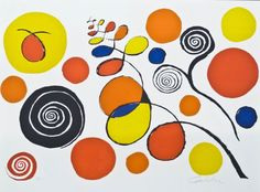 Alexander Calder (1898-1976 American) ''Musical Notes & Variations'' 1973 Pencil Signed Color Stone Lithograph 23.5''x30'' Sheet. Signed and numbered ''H.C.'' artist proof in graphite lower margin. From a closed edition of 125 impressions.