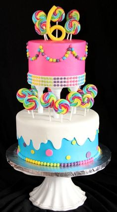 Candy Themed Birthday Cake