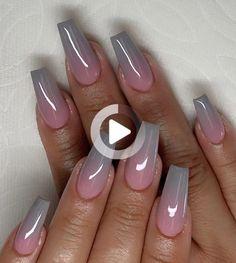 #greynails #pinknails #shortnails #longnails #coffinnails #nailsdesign #nailsart #nailsartdesign #ombrenails # ombrénails #acrylicnails #polygelnails #buildergelnails Ombre Nail Designs, Acrylic Nail Designs, Nail Art Designs, Nails Design, Fabulous Nails, Gorgeous Nails, Fire Nails, Best Acrylic Nails, Fancy Nails