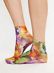 Fun floral socks.