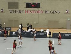 Jade Potter competing in indoor netball at Loughborough #abbotsholmeschool #netball #sport #loughborough