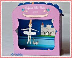 Swan Lake-Puppentheater Druckversion PDF Kit - DIY Craft - Party gefallen-Kind Spielzeug - spielen & vorgeben - Ballerina Prinzessin