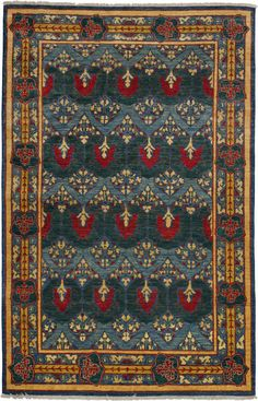 Darya Rugs Arts and Crafts Annalee Rug. Handknotted. 6'x10' $2500. Rugs USA.