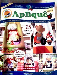 Apliquê Quilt Block Patterns, Applique Patterns, Sewing Magazines, Cross Stitch Magazines, Patchwork Pillow, Book Quilt, Book Crafts, Machine Embroidery, Sewing Crafts