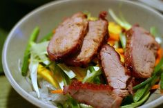 Asian Noodle Salad with roasted Pork