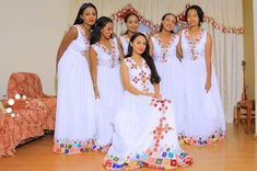 Selam Tesfaye weeding dress Melse <br> Selam Tesfaye Gets Married - Wedding Picture Ethiopia: Selam tesfaye wedding top 10 Photos African Bridal Dress, African Bridesmaid Dresses, African Wedding Attire, African Maxi Dresses, Latest African Fashion Dresses, Ethiopian Wedding Dress, Ethiopian Dress, Ethiopian Traditional Dress, African Traditional Dresses