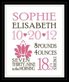 Full of Great Ideas: Free Custom Birth Announcements Template - download the template & change information