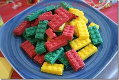 Awesome Lego party; Lego soaps, chocolates, crayons and keychains