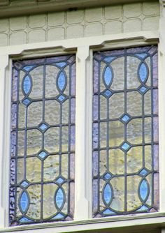 Stained glass window(s) in an old house in Amsterdam. This is beautiful!