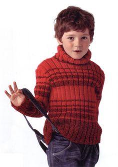 Bergere de France Roll Collar Jumper Knitting Pattern