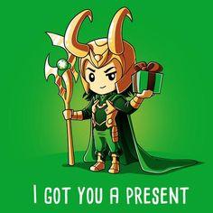 Loki I Got You A Present T-Shirt | Official Marvel Tee | TeeTurtle