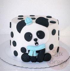 Panda Bear Cake, Bolo Panda, Panda Cakes, Panda Bears, Panda Birthday Cake, Birthday Cake Girls, Panda Party, Cake Icing Tips, Panda Baby Showers