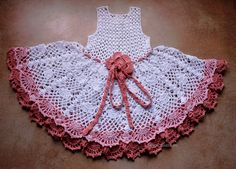 Baby Girl abito crochet di Illiana su Etsy