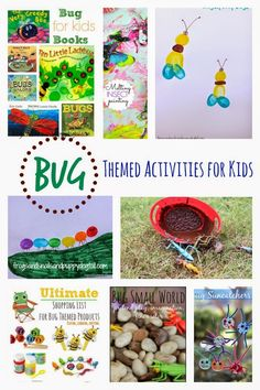 The ULTIMATE LIST of  Bug Themed Activities for Kids!  Crafts, snacks, games, activities, and more by FSPDT
