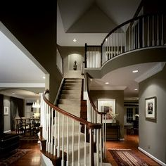 semi-housed staircase