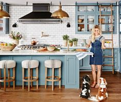 """On her design style: """"Muted, earthy greens, browns, blues and some 
